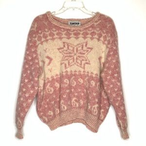 VTG Tundra 100% Wool Pullover Sweater Size L